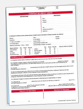 Contrat de dépôt-vente sans personnalisation