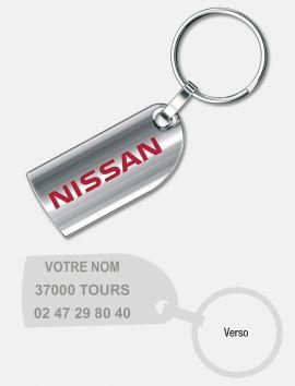 Porte-clés Métal Barette brillant
