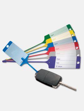 Etiquette clés plastique