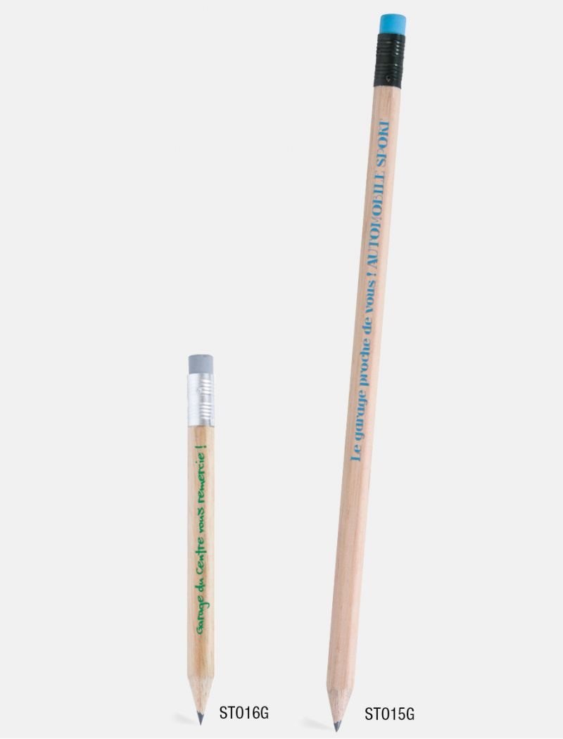 Crayon de papier gomme