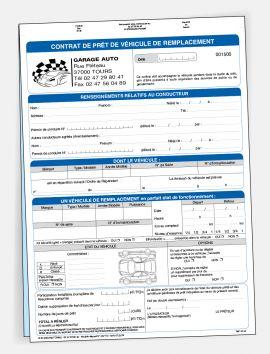 Contrat de prêt de véhicule à titre gratuit