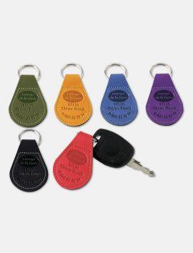 Porte-clés simili cuir Recto Verso
