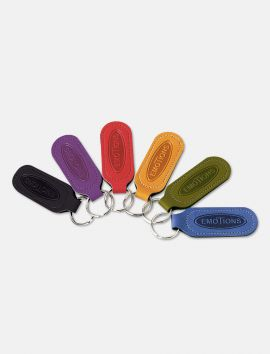 Porte-clés simili cuir personnalisation recto