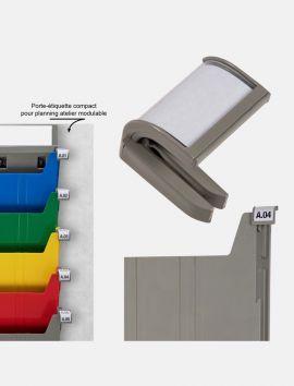 Porte-étiquette Compact pour planning atelier modulable