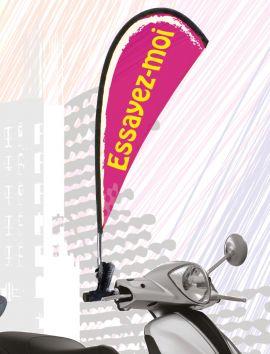 Kit drapeau de guidon rotatif à personnaliser
