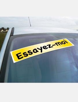 Autocollant extérieur de pare-brise à personnaliser