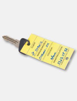Etiquette clés carton