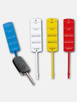Etiquettes clés plastique