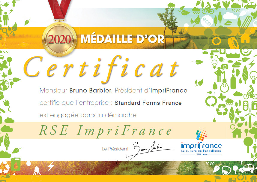 Certificat OR RSE
